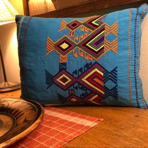 Needlepoint Native American Style Pillow